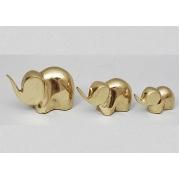 Трио слонов золотистый 5,5х9 см.