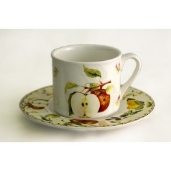 Чашка с блюдцем «Фруктовое ассорти»  0,2 л