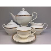 Сервиз чайный «Золото» 17 предметов на 6 персон