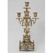 Пара канделябров 4 свечи золотистый 41х21 см.