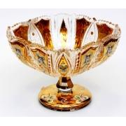 Ваза для конфет «Хрусталь с золотом» 25,5 см.