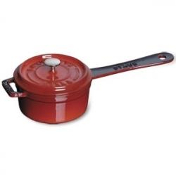 Кокотница с крышкой чугунная, dia 10 см, 0,2 л, цвет красный