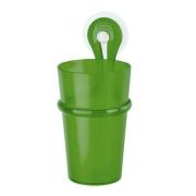 Стакан для зубных щеток LOOP Koziol 80 х 72 х 175мм (прозрачный зеленый)