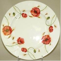 Обеденная тарелка «Маки» Диаметр 27 см