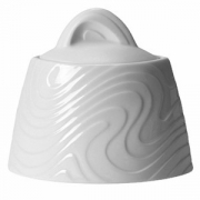 Сахарница без крышки «Оптик», фарфор, 280мл, D=13,H=7,B=8см, белый