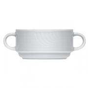 Бульон.чашка «Карат», фарфор, 200мл, D=10,H=5,L=15см, белый