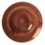 Тарелка для пасты «Крафт», фарфор, 320мл, D=27см, терракот