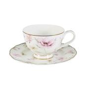 Чашка с блюдцем Розовый танец
