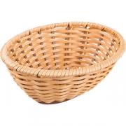 Корзина плетен. для хлеба овал. H=8, L=23, B=18.5см; золотой