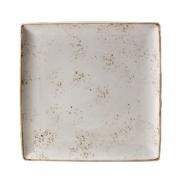Блюдо квадратное «Крафт», фарфор, L=27,B=27см, белый
