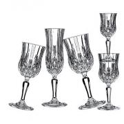 Набор 18 предметов «Опера» с золотом (бокалы для вина160мл,вина230мл,шампанского130мл)