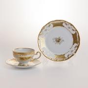 Набор чайный 6 перс. 18 пред. подарочный «Кленовый лист белый»