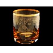 Стакан для виски «Амбер с золотыми колокольчиками» (набор 6 шт.)