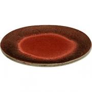 Тарелка бетон D=20см; красный, серый