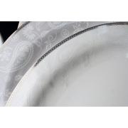 Набор 6 кофейных пар 100мл «Серебрянная вышивка»