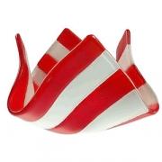 Подсвечник «Флауэ»; стекло; D=70,H=106,L=185,B=177мм; красный,белый