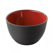 Салатник; фарфор; 500мл; D=125,H=80мм; черный,красный