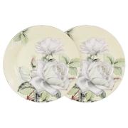 Набор из 2-х десертных тарелок Белые розы