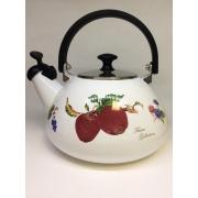 Японский эмалированный чайник со свистком на 3 литра, серия «Фрукты»