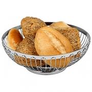Корзина для хлеба овал., сталь нерж., L=20,B=15см