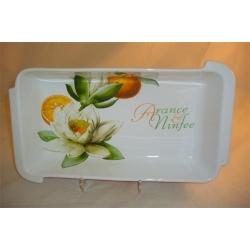 Блюдо прямоугольное «Апельсины и кувшинки» 38х22 см