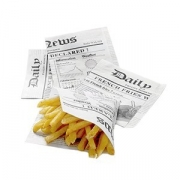 Конус для картофеля фри черно-белый [1000шт]; бумага; L=13,B=13см