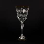Набор 6 бокалов для вина 220 мл. «Адажио» с золотом