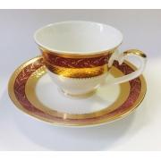 Набор чашек для кофе на 2 персоны «Королевский Рубин»