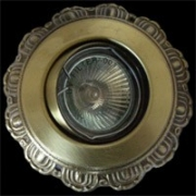 Галогеновый светильник. Цвет: коричневая и испанская патина