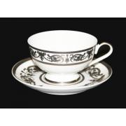 Набор для чая «Александрия Платин/белый» (чашка 200 мл. +блюдце) на 6 пер. 12 пред.