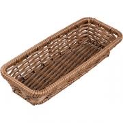 Корзина плетен. для хлеба прям. H=5, L=29, B=12см; коричнев.