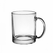 Кружка «Чайная», стекло, 320мл, D=113,H=94мм, прозр.