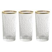 Набор: 6 хрустальных стаканов для воды Умбрия - золото