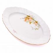 Блюдо овальное 34 см «Дикий лопух 23011»