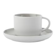 Чашка с блюдцем Оттенки (серая) без инд.упаковки