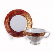 Набор для чая 200 мл. на 6 перс. 12 пред. «Лист красный»