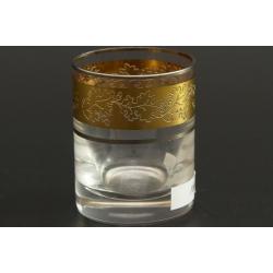 Стопка 060 мл Гольф, выполнен в декоре панто+сочетание золота и платины