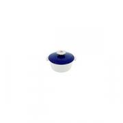 Кастрюля для сервировки с крышкой «Революшн» D=16.4, H=10.7см; белый, синий
