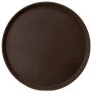 Поднос круг.прорез. d=40.6см коричневый