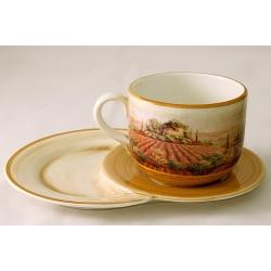 Чашка на маленьком подносе «Кьянти» 0,5 л