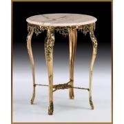 Стол круглый цвет - золото 80х64 см