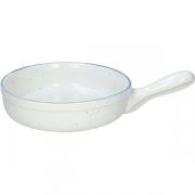 Сковорода порц. «Органика» D=18см; белый, синий