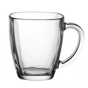 Кружка, стекло, 414мл, H=12.2см, прозр.