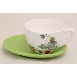 Чашка с блюдцем «Клубника» 0,3 л