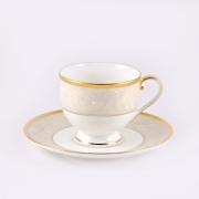 Набор 6 чайных пар 240мл «Ноктюрн золотой»
