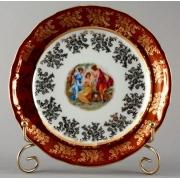 Набор тарелок «Мадонна красная» 19 см. 6 шт.