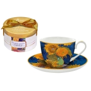 Чашка с блюдцем Подсолнухи (Ван Гог)