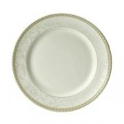 Тарелка мелкая «Антуанетт», фарфор, D=16.5см, белый,олив.
