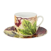 Чашка с блюдцем Кленовый лист