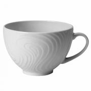 Чашка чайная «Оптик», фарфор, 340мл, D=10,H=7,L=13см, белый